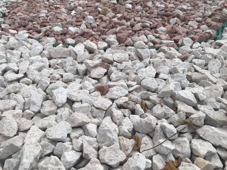 Close up image of Broken pebble stones or aggregates can be used for decorative purpose and water fountain