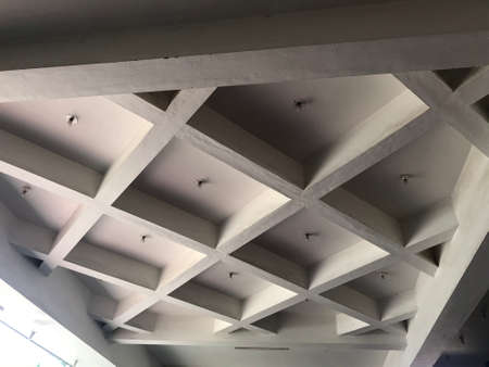 coffered waffle ceiling for an mass entrance of an five star ceiling architecture 版權商用圖片