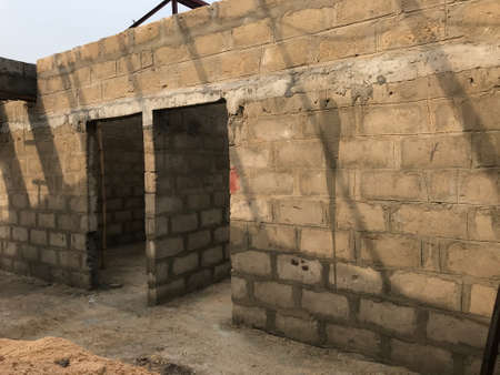 Through or continuous lintel construction over the block work above door height Level in an residential project site