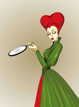 malicious: malicious queen with a magic mirror