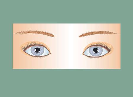 gentleness: blue eyes of northern woman