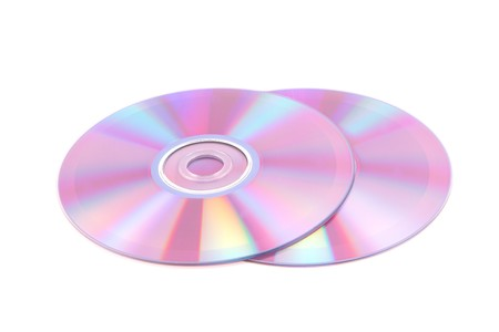 Compact disc on a white background photo