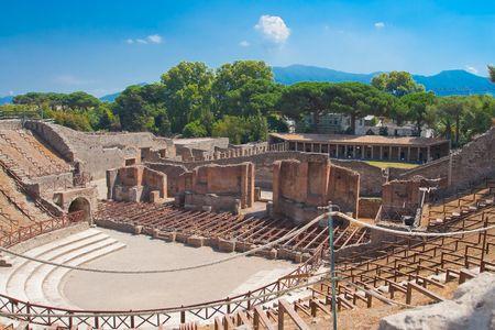 pompeii: Italian ruins, Pompeii, landscape and blue sky