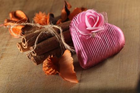 kalpli çikolata Stok Fotoğraf
