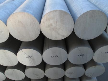 extrusion: aluminium extrusion billet Stock Photo