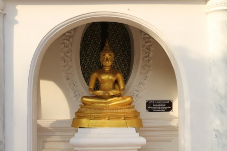 Golden Buddha statue peacefulness