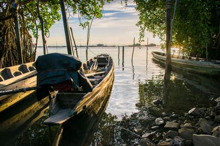 The boat at Koh yo, Songkhla, Thailand