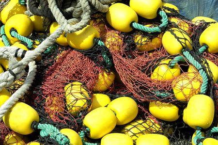 fishing net: float and fishing net