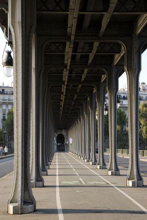 bir: Pillars of pont Bir Hakeim of Paris Stock Photo