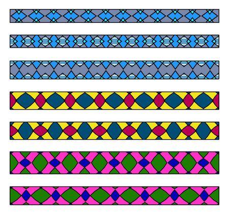 Border lozenge motif Stock Photo - 2736654