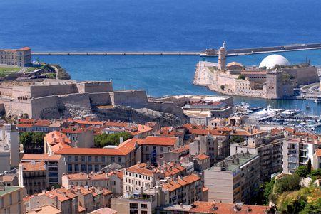 Port de Marsella en Francia  Foto de archivo - 3188202
