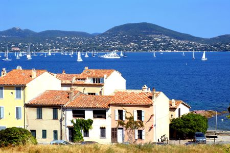 Bay of Saint Tropez in France