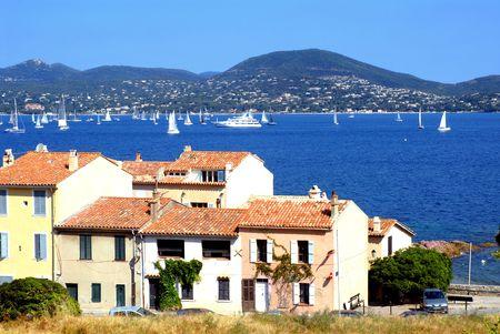 Golfo de Saint Tropez en Francia Foto de archivo - 3355537