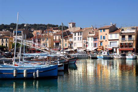 Puerto de Cassis Foto de archivo - 3873009