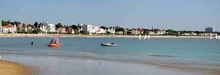 Panoramique de la plage de Royan en France Banque d'images - 3873005