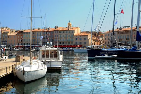 Port Of Saint-Tropez in France