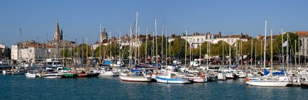 Panoramic Port of La Rochelle in France Imagens