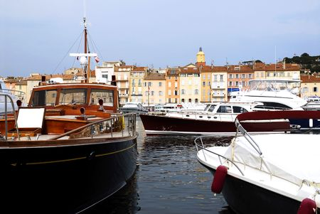 tropez: Port of Saint Tropez in France