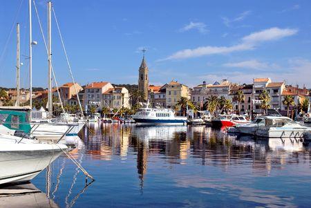 Port de Sanary, en France Banque d'images - 4067841