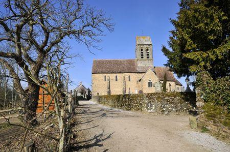 rei: Church of Saint-Céneri-le-Gérei in France, department of the Orne