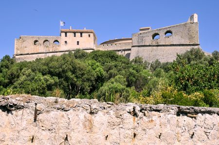 alpes maritimes: The fort carr� from Antibes in France, Alpes maritimes department, built by Vauban Stock Photo