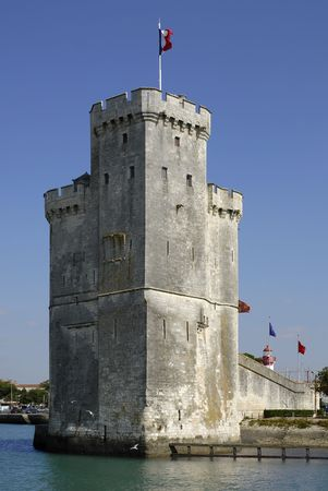 nicolas: Walled tower Saint Nicolas (tour Saint Nicolas) at La Rochelle in France, region Charente Poitou