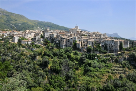 alpes maritimes: Village of Tourrettes sur Loup in southeastern France, region Provence, department Alpes Maritimes