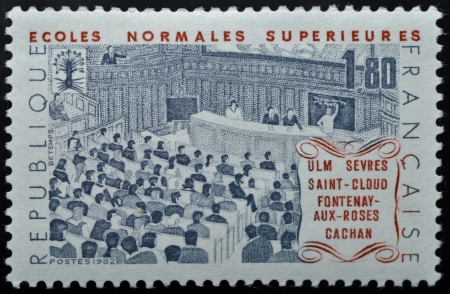 Postage stamp of Ecoles Normales Sup�rieures in France Stock Photo - 17635423