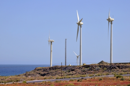aero generator: Wind turbine at the Southern part of Tenerife in the Spanish Canary Islands