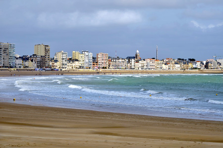 vendee: Beache of Les Sables Olonne, commune in the Vendee department in the Pays de la Loire region in western France