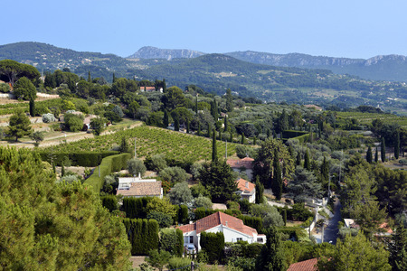 azur: Country of Le Castellet, commune in the Provence-Alpes-Cote Azur region in southeastern France
