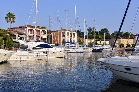 Port of Cogolin, commune in the Var department in the Provence-Alpes-Cote Azur region in southeastern France