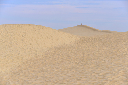 gironde: Famous Dune of Pilat located in La Teste-de-Buch in the Arcachon Bay area, in the Gironde department in southwestern France Stock Photo