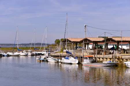 gironde: Ostreicole harbor of Andernos-les-bains, commune is a located on the northeast shore of Arcachon Bay, in the Gironde department in southwestern France.