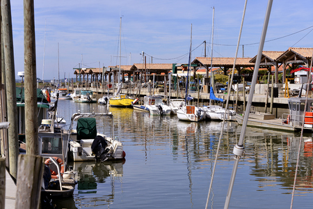 aquitaine: Ostreicole harbor of Andernos-les-bains, commune is a located on the northeast shore of Arcachon Bay, in the Gironde department in southwestern France.