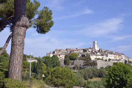 vence: Walled town of Saint Paul de Vence, common in the Alpes-Maritimes department on the French Riviera Stock Photo