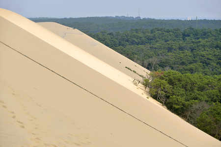 gironde: Famous Dune of Pilat and pine forest Located in La Teste-de-Buch in the Arcachon Bay area, in the Gironde department in southwestern France Stock Photo
