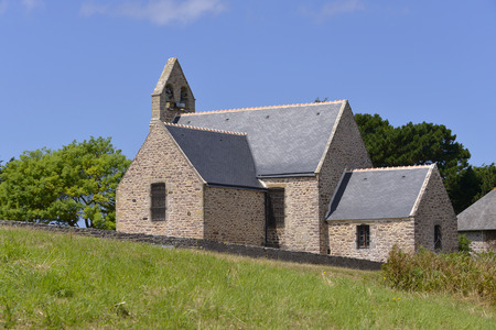 architecture alphabet: Church of Trhrel, a town near of peninsula of Cap FRhL in the Ctes dArmor department of Brittany in northwestern France