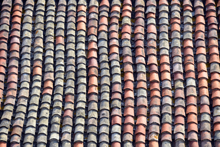watertight: French Provencal tiles on roof Stock Photo