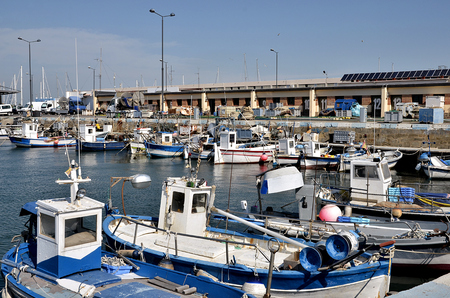 costa brava: Fishing Port of Roses, gold Rosas town on the Costa Brava at northeastern Catalonia in Spain