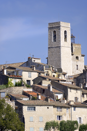 walled: Saint Paul V collegiate church in the walled town of Saint Paul de Vence, common in the Alpes-Maritimes department on the French Riviera