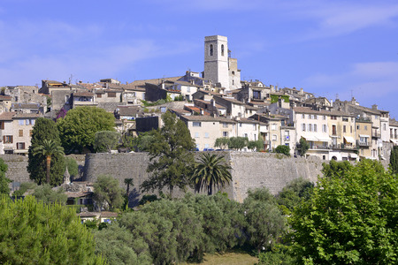 walled: Walled town of Saint Paul de Vence, common in the Alpes-Maritimes department on the French Riviera Stock Photo