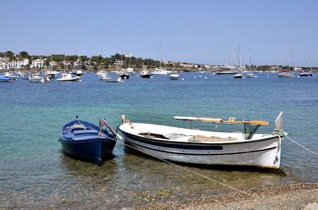Boat at Port Cadaquà © s, town on the Costa Brava at northeastern Catalonia in Spain