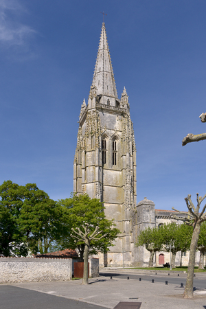 Church of the Saint-Pierre at Marennes, a commune in the Charente-Maritime department in southwestern France. Stock Photo