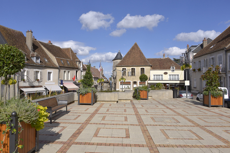Square at Sancerre, medieval hilltop town, commune and canton in the Cher department of central France overlooking the Loire River. It is noted for its wine