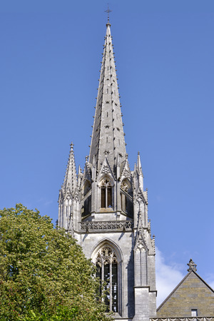 gascony: Bell tower of the St. Mary Cathedral at Bayonne, a city in the department of Pyrenean-Atlantic, in the New-Aquitaine region of south-western France