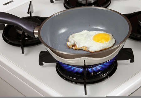 frying two sunny side up eggs