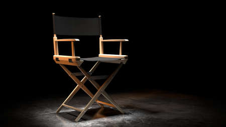 Best Movie, 3D illustration Award, Trophy isolated on orange background