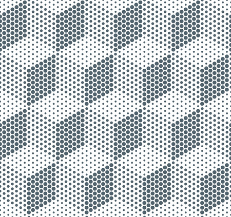vector raster background: Raster dot shadow cube vector seamless background pattern