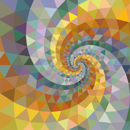 swirl: Silver and gold polygon swirl rainbow background.